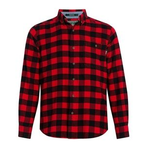 Woolrich Trout Run Red Buffalo Flannel Button Up